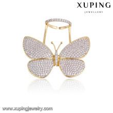 Moda elegante Multicolor CZ borboleta anel de dedo jóias para mulheres-13783