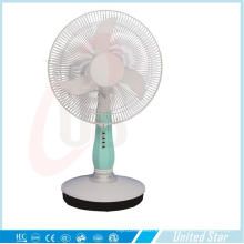 16 pulgadas DC / ventilador de mesa recargable con 3 velocidades (USDC-403)