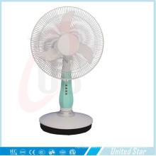 16 polegadas DC / ventilador de mesa recarregável com 3 velocidades (USDC-403)