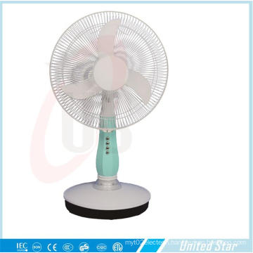 16 Inch DC/Rechargeable Table Fan with 3 Speed (USDC-403)