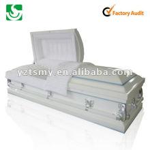 caixão de madeira sólida de cinzeladura JS-ST073