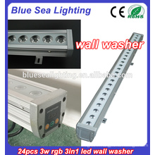 RVB rdb lampe ronde à LED murale 24pcs 3w