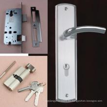 Cerradura de manija de la palanca de fundición sólida de alta seguridad en el sistema completo de la placa