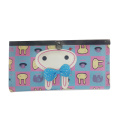 Trifold cute rabbit wallet, bifold pink rabbit purse
