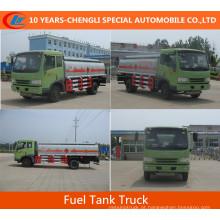 Caminhão de tanque de combustível do óleo do caminhão de tanque do combustível 15cbm de Dongfeng