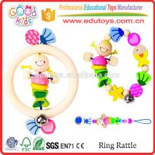 Yunhe Fábrica Buen Precio Color Baby Rattle Toy Diseño Único Pequeños Juguetes De Madera Para La Venta