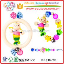 Yunhe Factory Good Price Colorful Baby Rattle Toy Unique Design Wooden Small Toys For Sale
