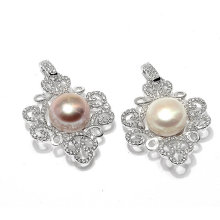Elegant CZ Pearl Pendant Jewelry Accessory Necklace Charms
