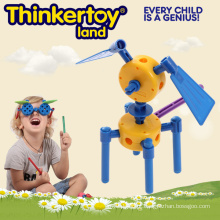 Jogo de Puzzle Brinquedo colorido do brinquedo do modelo do cão do bloco para crianças