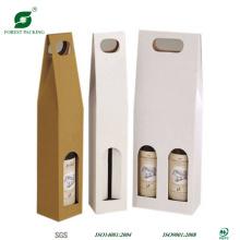 Novo saco de embalagem de vinho corrugado com alça