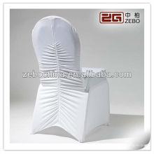 Novos estilos de chegada diferentes disponíveis personalizado capas de cadeira de spandex branco atacado