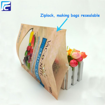Ziplock dried fruit plastic packaging bag