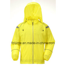 Men′s Hooded Solid Waterproof Windbreaker