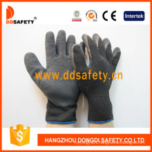 10 Gauge Black T/C Shell Black Latex Coating Crinkle Finish Safety Glove Dkl338