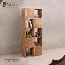 Wooden Movable Display Stand For Clothing Shop