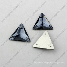 Synthetic Triangle Sew on Stone Crystal Accessories for Garment