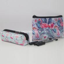 Red Flamingo bergaya Neoprena Pensil Pouches