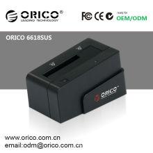 Station d'accueil en plastique ORICO 6618SUS 2.5 '' et 3.5''USB pour disque dur SATA