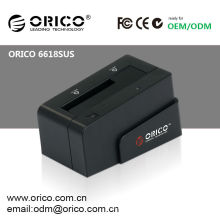 ORICO 6618SUS 2.5 '' e 3.5''USB docking station plástica para disco rígido SATA