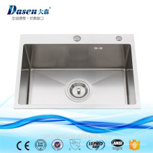 DS 6045 pias artesanais de aço inoxidável ao ar livre lavatório afunda pia de água