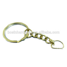 Fashion High Quality Metal Gold Split Key Ring D Ring