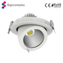 100lm / W CRI80 CRI90 20W 30W 40W Gimble COB LED Downlight con 130 mm de corte