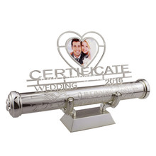 metal wedding certificate holder in hot sale