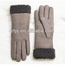 Venta al por mayor de moda de piel de oveja señora guante