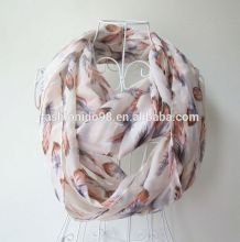 Hot Sale hot sales fashion and beauty polyester scarf From Real Scarf Factory