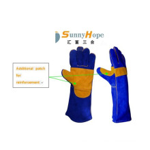 High temperature resistance welding leather glove