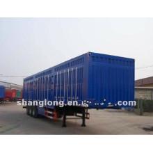 Semi-remorque de fourgon de 3 essieux 40ton, remorque de boîte de cargaison faite en Chine