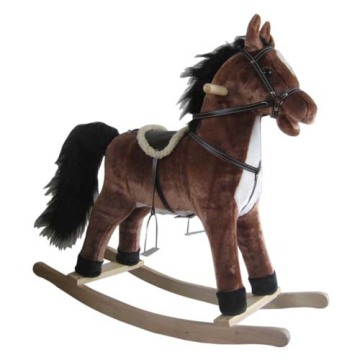 Online Manufacturer for Best Plush Rocking Horses, Animal Rocking Horses, Baby Plush Rocking Horse, Plush Motorized Animal Manufacturer in China Baby rocking horse LXRH-002 export to Bahrain Exporter