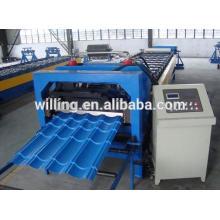 Máquina de formação de azulejos de aço CNC com PLC