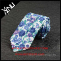 Handmade Printed Skinny Mens Cotton Tie