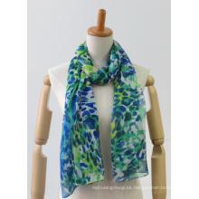 La última bufanda ligera larga multicolor de las señoras de la moda de la impresión