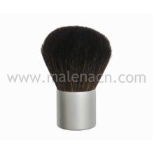 Brosse à cheveux naturels Kabuki avec ferrure en argent