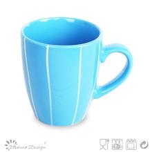 Tasse de café colorée de 12 oz avec ligne blanche