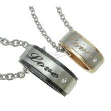 Gets.com 316l aço inoxidável Couple Necklace para os amantes
