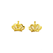 Princess Crown Earring K Guld Gul Guld