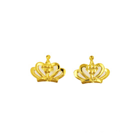 Princess Crown Kolczyk K Gold Yellow Gold