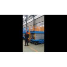4 m china 2ton last CE mobile ziehbare scherenhebebühne / scherenhebebühne für container