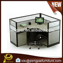 One person staff workstation design with glass screen