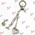 Floating Locket Clip Key Chain for Leather Bags Accessories (LBK109)