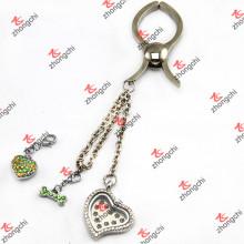 Floating Locket Clip Schlüsselanhänger für Leder Taschen Zubehör (LBK109)