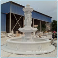 Large Size White Marble Marble Four Season Water Fountain