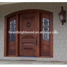 Porta de madeira cinzelada exterior da porta da madeira maciça do pinho do carvalho