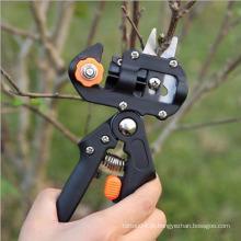Black Professional Nursery Grafting Ferramenta Pruner faca com 2 lâminas extra Sharp