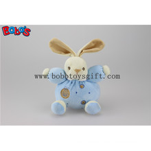 "5.9"" Lovely En 71 Approved Velvet Soft Kids Toy Blue Rabbit Bunny with Ring Rattle"