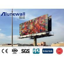 2M Breite verschiedene Farben / glänzend / Metallic Farbe / Silber gebürstet Aluminium-Verbundplatte für Werbetafel