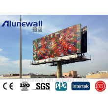 2M ancho diferentes colores / brillante / color metálico / plata cepillado Panel compuesto de aluminio para tablero publicitario